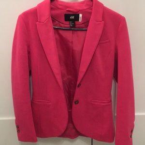H&M 2 button pink blazer
